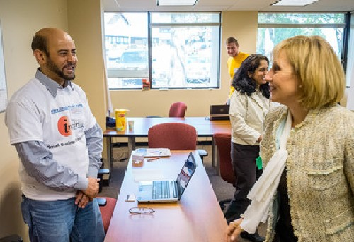 Photo: Lt. Gov. Guadagno with Inspirity's Atiq Hashmi Photo Credit: Mike Peters / Montclair State University