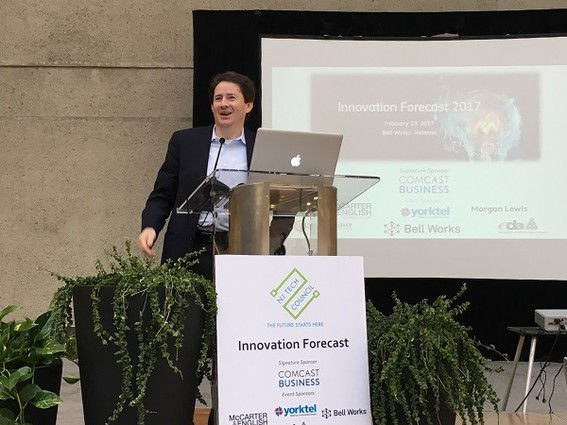 Photo: Marcus Weldon at NJ Tech Council 2017 Innovation Forecast event Photo Credit: Esther Surden