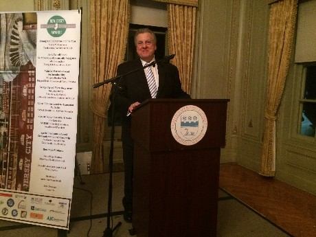 Photo: Mario Casabona accepting NJ Immigrant of the Year award in December. Photo Credit: Courtesy TechLaunch
