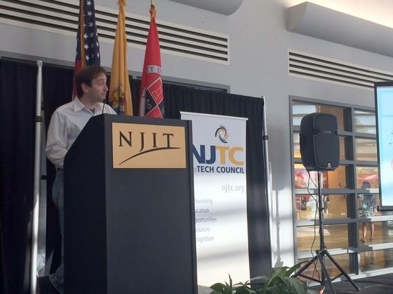 Photo: Michael Liguori, Vognition at the NJTC IoT conference Photo Credit: Esther Surden