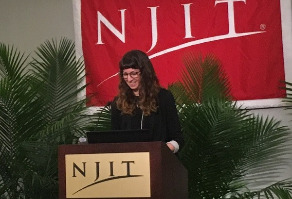 Photo: Mollie Ruskin spoke at the Murray Center for Women in Technology at NJIT. Photo Credit: Esther Surden