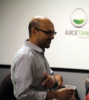 Photo: Mukesh Patel of JuiceTank Photo Credit: Charlie Patel