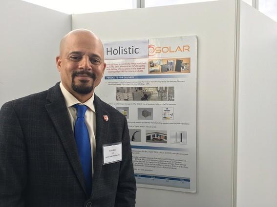 Photo: Scott Blow represented Holistic Solar Photo Credit: Esther Surden