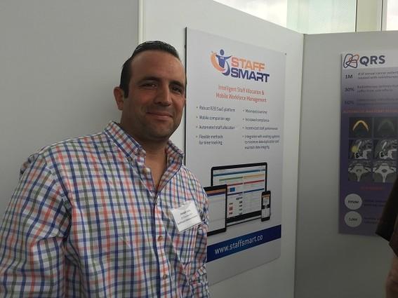 Photo: Cofounder Joseph Arlia of StaffSmart Photo Credit: Esther Surden