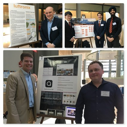 Photo: Some of the digital tech posters at the event. Photo Credit: Esther Surden