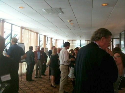 Photo: Folks networking at the NJEN Gathering of Angels event in June. Photo Credit: Esther Surden