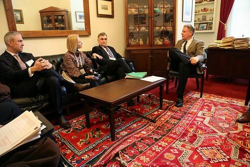 Photo: NJTC representatives meeting with Congressman Frank Pallone. Photo Credit: NJTC