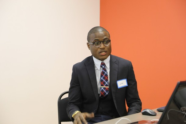 Photo: Jimi Olaghere talked about his experience with Lean.   Photo Credit: Linda Pace / Pacesetter Photography