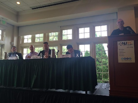 Photo: At the NJTC Annual Meeting in July, panelists discussed sports technology. Photo Credit: Esther Surden