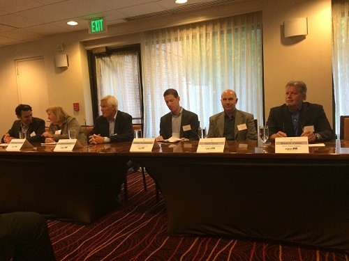 Photo: Angel investor panelists gave advice to tech entrepreneurs at June NJEN meeting Photo Credit: Esther Surden