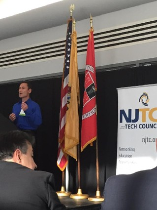 Photo: Paydunk cofounder Mike Marenick at the NJTC IoT conference Photo Credit: Courtesy Paydunk via Twitter