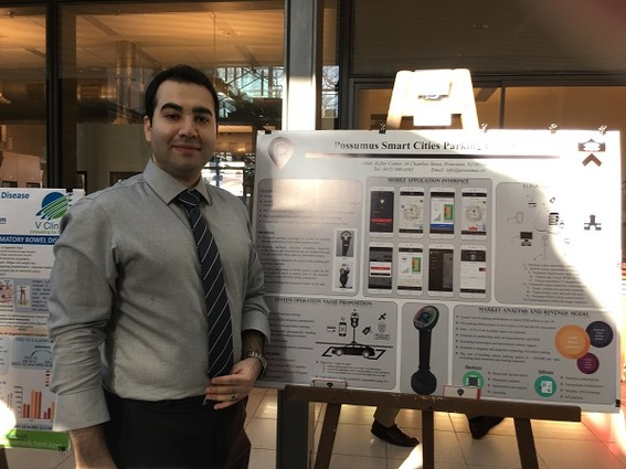 Photo: Possumus Smart Cities Parking system presented by Possumus founder  Arash Sedeghi. Photo Credit: Esther Surden
