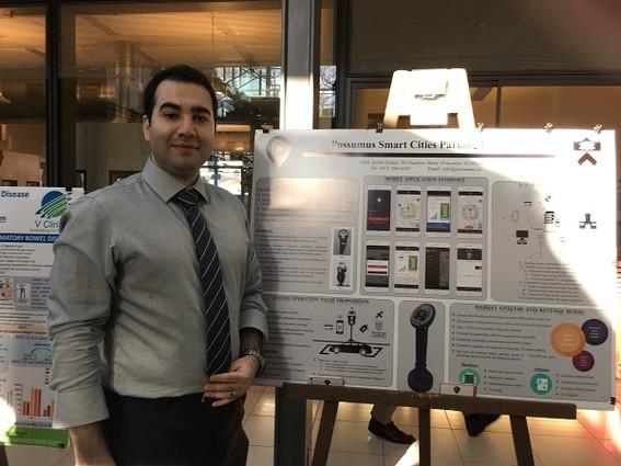 Photo: Possumus Smart Cities Parking system presented by Possumus founder  Arash Sedeghi. Photo Credit: Esther Surden