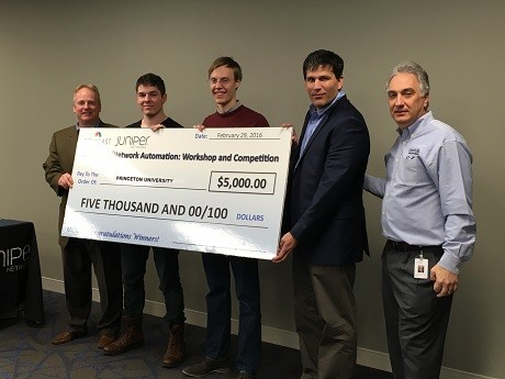Photo: The winning team from Princeton University took home $5000 for their school. Photo Credit: Esther Surden