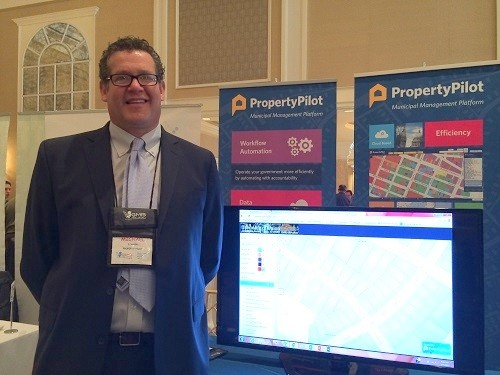 Photo: Property Pilot on the GMIS-NJ conference exhibit floor. Photo Credit: Esther Surden