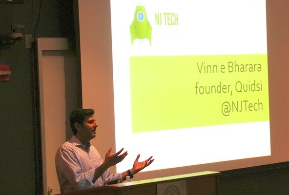 Photo: Quidsi founder Vinit Bharara at NJ Tech Meetup in January Photo Credit: Dominic Rivera
