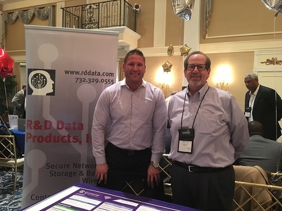 Photo: (L-R) Mike Murphy, senior account executive for the state of NJ, Extreme Networks and Richard Diatlo, CEO of RD Data Products Photo Credit: Esther Surden