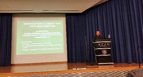 Photo: Randy Harmon addressed the Launch NJ Life Sciences Hub meeting. Photo Credit: Helena Van Der Merwe