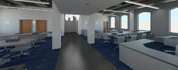 Photo: Rendering of Vi Collaboration Hub at TetherView HQ. Photo Credit: Nicholl Field Design