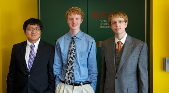 Photo: Parallelizing Programs for the Multicore Era. Team (from left to right), David Liao:Saddle River, Bergen County;Ryan Morey:Maplewood, Essex County, Alex Rucker:Warren, Somerset County Photo Credit: Rutgers