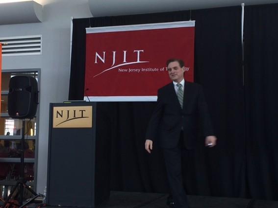 Photo: NJII president Donald Sebastian gave an updated version of his 2013 TedXNJIT talk. Photo Credit: Esther Surden