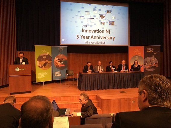 Photo: A second panel at InnovationNJ's event discussed the future of collaboration and innovation in New Jersey Photo Credit: Esther Surden