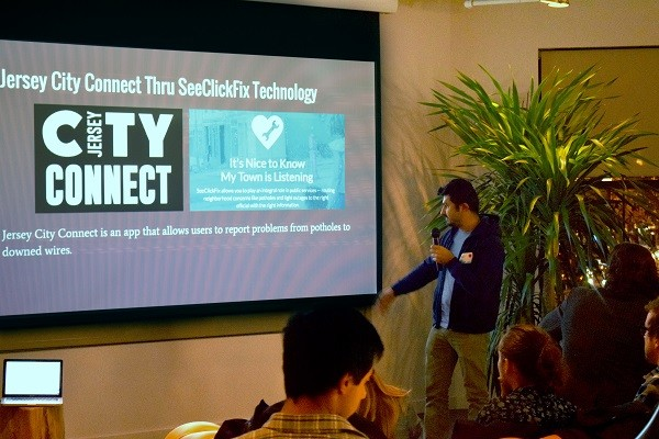 Photo: The SeeClickFix product demo. Photo Credit: Raquel Rodriguez-Fadraga
