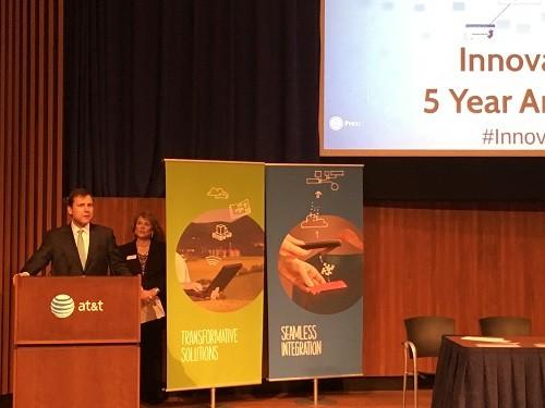 Photo: Senator Tom Kean made some remarks at the InnovationNJ 5th Anniversary Celebration. Photo Credit: Esther Surden