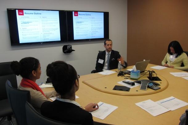 Photo: Bruce Soltys led a resume session Photo Credit: John Critelli