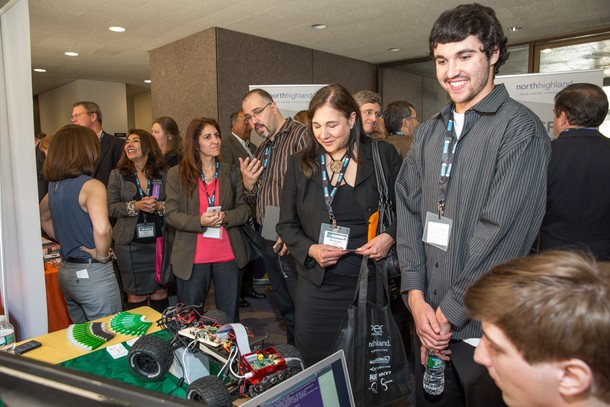 Photo: Visitors crowded the booths at the Somerset County tech event. Photo Credit: Hal Brown