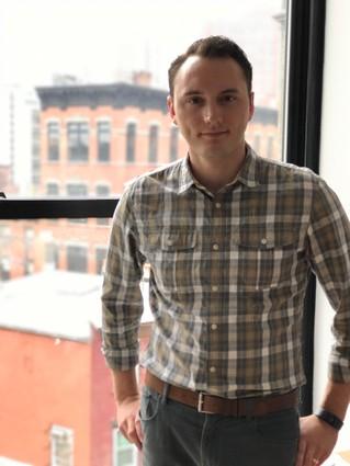 Photo: Stephen Fiser, CEO of Blue Bear Digital, in his office. Photo Credit: Courtesy Blue Bear Digital