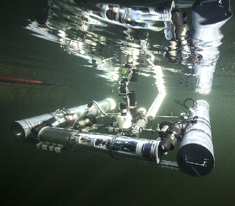 Photo: This computer-controlled underwater drone was designed by Stevens students. Photo Credit: Courtesy Stevens Institute of Technology