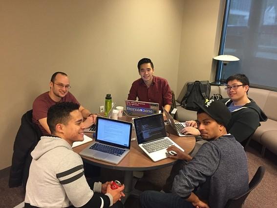 Photo: Team Symantix at work Photo Credit: Hazel Lee, The Ideas Maker