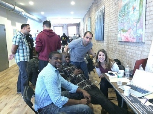 Photo: Winning team putting the finishing touches on their Lean Newark presentation. Photo Credit: Esther Surden