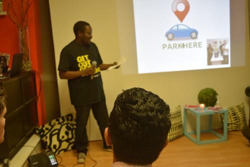 Photo: The ParkHere Team presenting. Photo Credit: Todd Nakamura