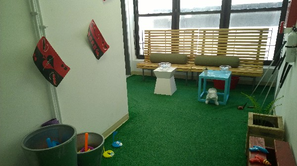 Photo: Putting green and play area at Equal Space. Photo Credit: John Critelli