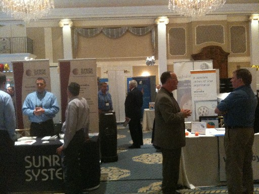 Photo: At the NJ GIMS conference in April, many NJ companies were displaying their wares. Photo Credit: Esther Surden