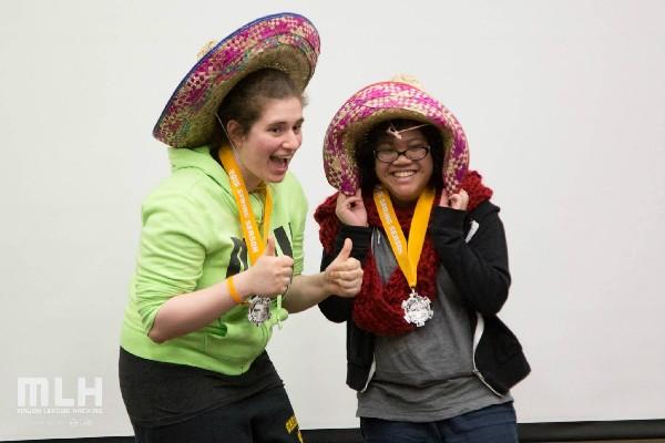 Photo: Winners of the sombreros.  Photo Credit: Nikolas Rassoules, courtesy of Major League Hacking
