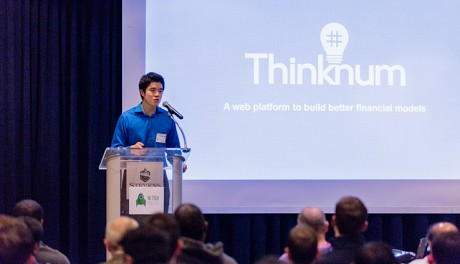 Photo: Thinknum presenting its financial analysis website. Photo Credit: Danny@Customphotoshoot.com