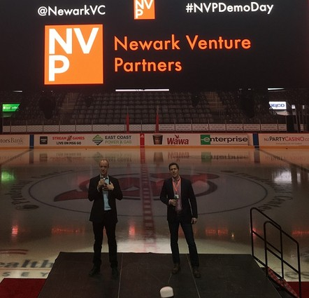 Photo: Tom Wisniewski and Dan Borok at NVP Labs Demo Day. Photo Credit: Esther Surden