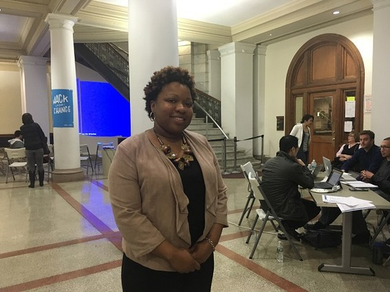 Photo: Traymanesha Moore is the executive director of Newark Thrives! Photo Credit: Esther Surden
