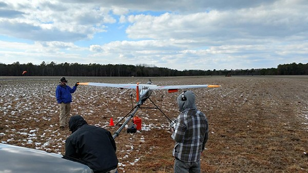 Photo: Verizon tests a drone from American Aerospace Technologies Inc to provide cell service after a disaster. Photo Credit: Esther Surden