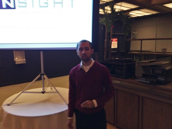 Photo: Vijar Kohli speaking at the NJ Strategic Design + Tech meetup Photo Credit: Marc Weinstein