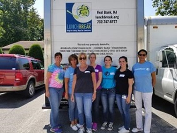 Photo: Volunteers for Lunchbreak in Red Bank. Photo Credit: Courtesy Commvault