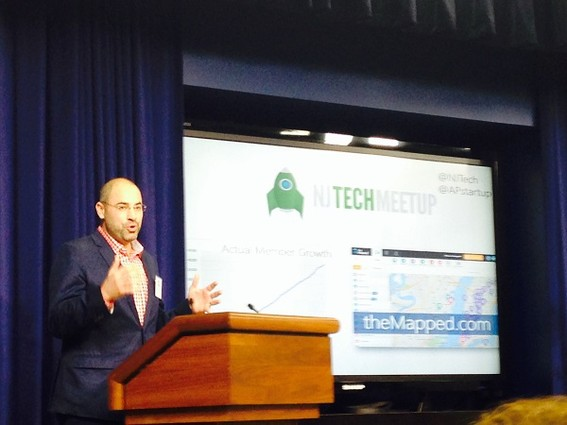 Photo: Aaron Price represented the NJ Tech Meetup group at the White House. Photo Credit: Courtesy Aaron Price