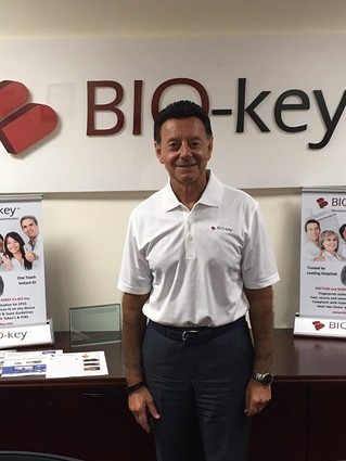 Photo:  Michael W. DePasquale, CEO of BIO-key Photo Credit: Marc Weinstein