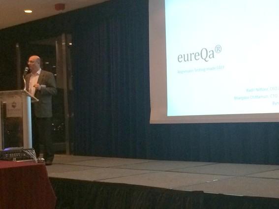 Photo: Byron Druss pitched eureQa. Photo Credit: Esther Surden