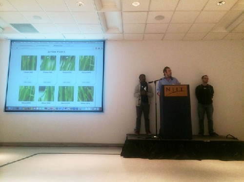 Photo: 1st Place: Factory Fresh Food - An urban agriculture interface that allows users to communicate with and tend to organic hydroponically grown greens. Photo Credit: Brendan Kaplan