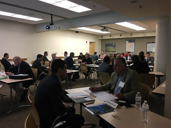Photo: Investor meetings at the April 2017 Founders and Funders event Photo Credit: Esther Surden