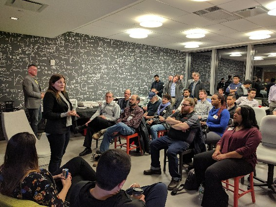 Photo: The Jersey City Tech Meetup February 15. Photo Credit: Anna Lukasiak